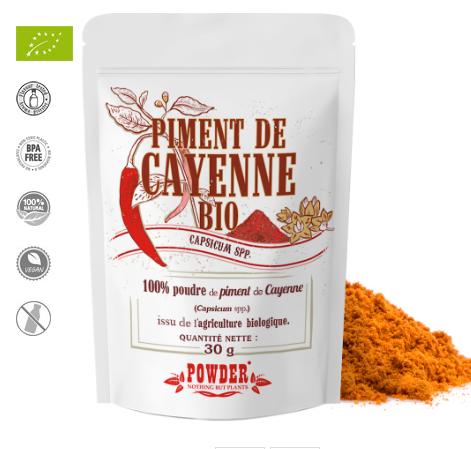 piment de cayenne bio  plante medicinale anti inflammatoire